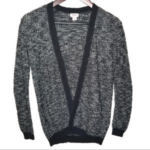 Mossimo Marled Black and White Cardigan Sweater